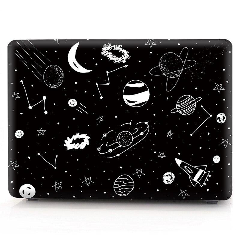Glitter Case For Apple MacBook Air Pro Retina 11 12 13 15 inch Cartoon Space Transparent Cover for Mac book 13.3 15.4 Case Coque