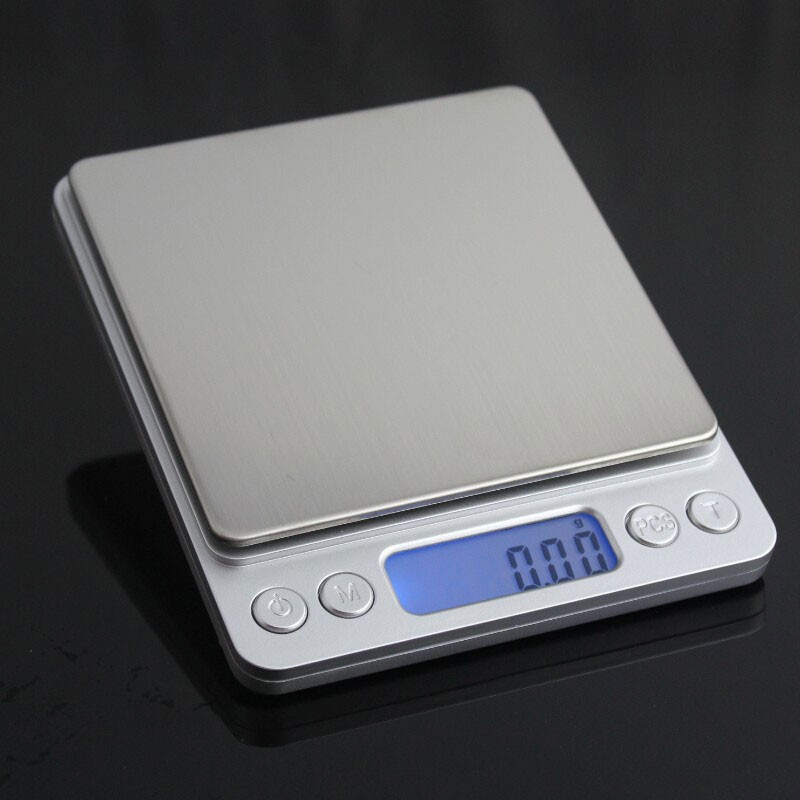 LCD Digital Kitchen Scales Electronic Stainless Steel Precision Jewelry Scales Weighing Device with Backlight