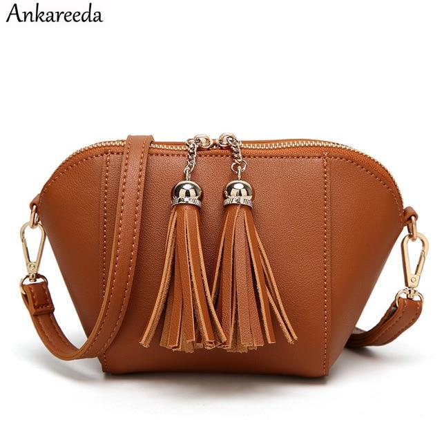 34c7f2147b1f Ankareeda Brand New Double zipper Shoulder Bag Crossbody Bags for Girl  Women Casual Messenger Bag Fashion Women s Handbags