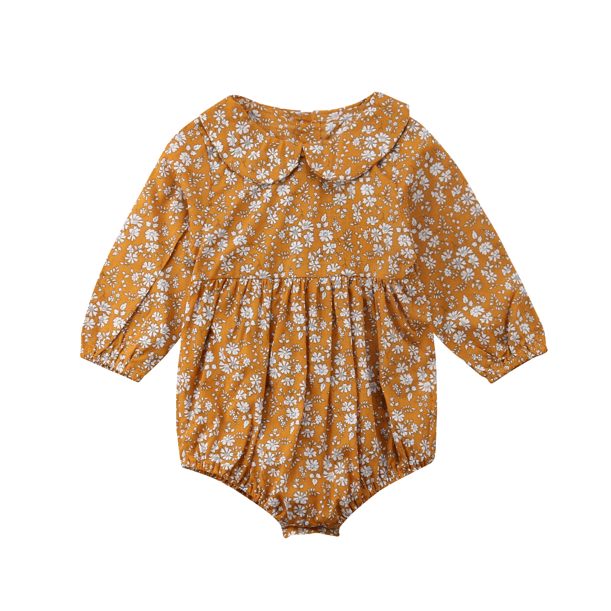 Flower Baby Girls Clothing Newborn Infant Baby Girls Floral Rompers Long Sleeve Autumn Clothes Jumpsuit Playsuit