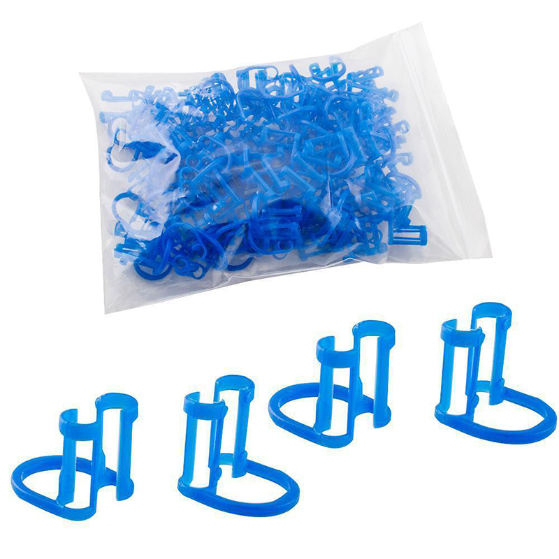 Teeth Dentist Clinic Roller 50Pcs Cotton Roll Holder Disposable Dental Isolator Clip Oral Care Tool Blue Clip Isolator Tool