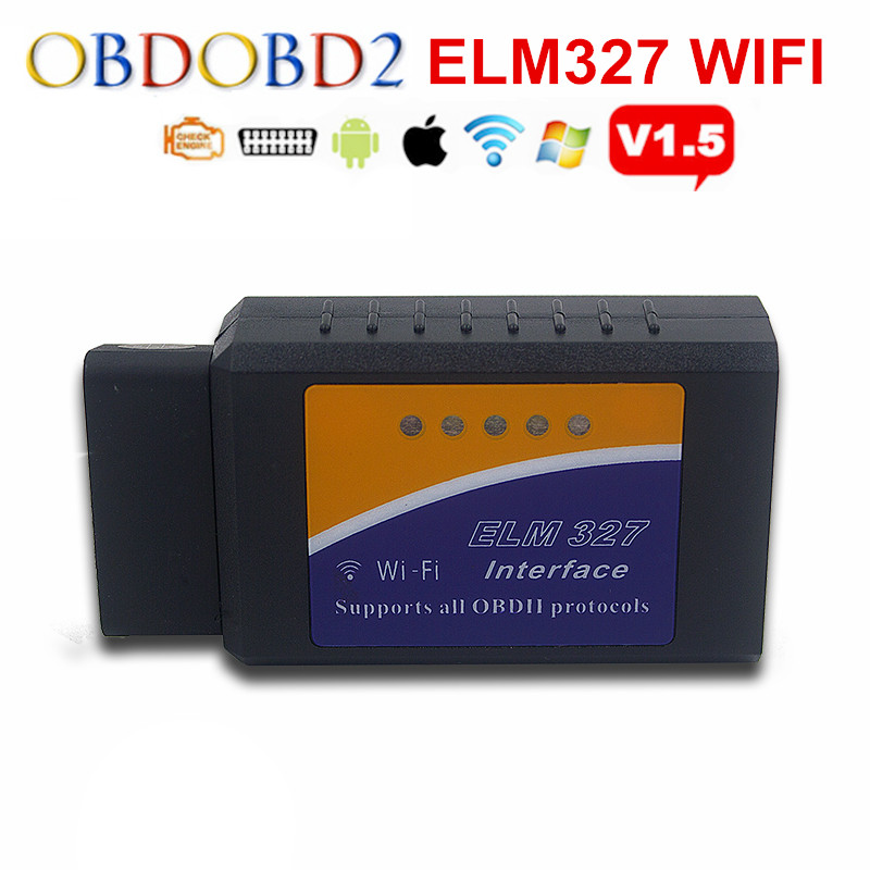 Réel 25K80 Puce ELM327 WIFI/Bluetooth/USB V1.5 ELM 327 Pour Android Couple/PC Support Tous OBDII protocoles 12 Langues Bateau Libre