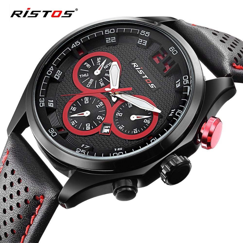 Ristos ספורט גברים Watch Top מותג יוקרה לוח - שעונים גברים