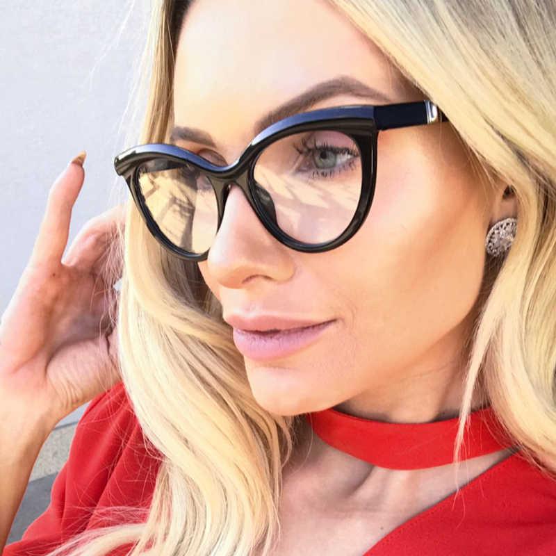 0695a24620b ... QPeClou Cat Eye Leopard Glasses Frame Women Brand Unique Stereoscopic Eyeglasses  Frame Female Clear Lens No ...