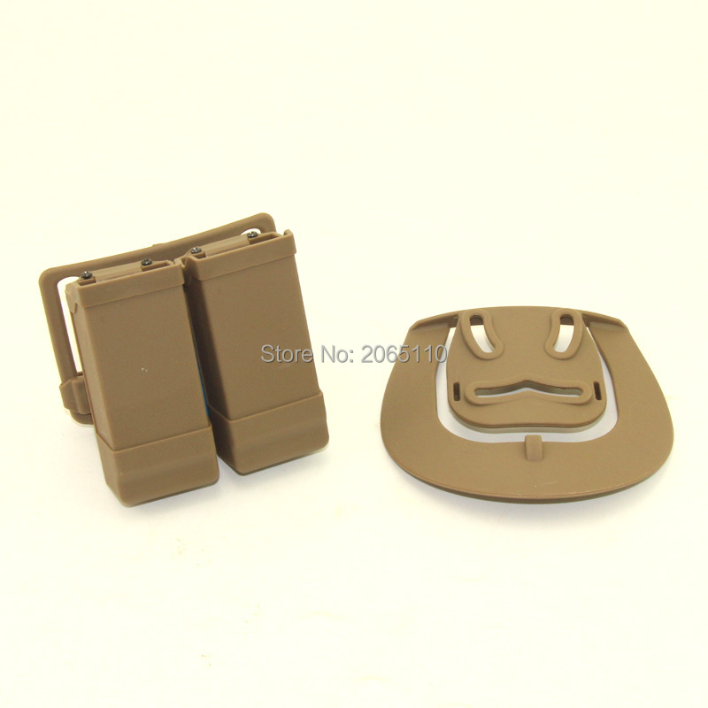 Tactical Hunting Magazine Pouch CQC style Quick Double Dual Magazine Mag Pouch with Belt Loop