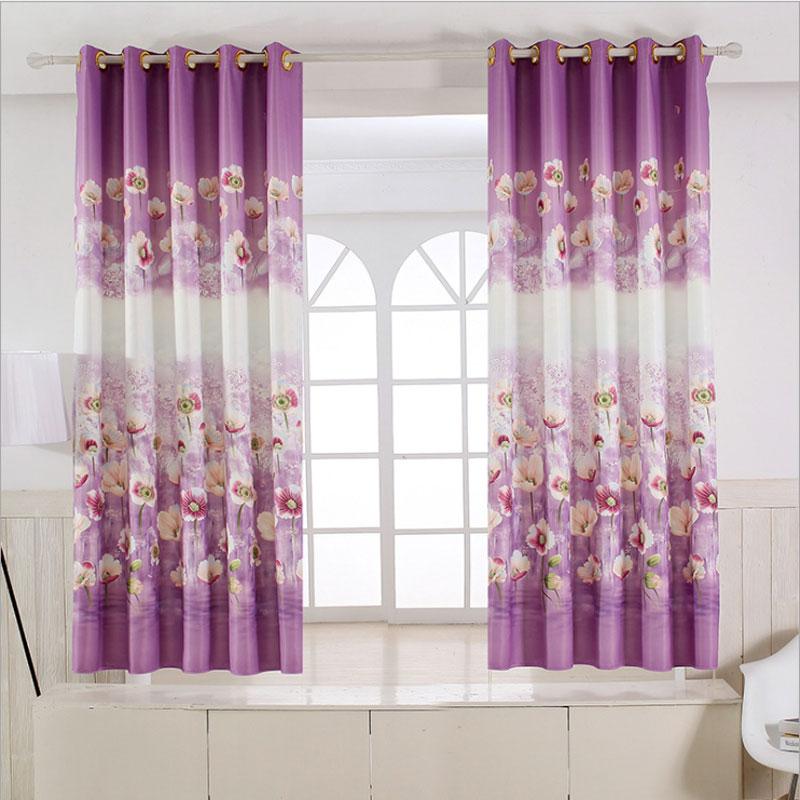 grommet kitchen curtains renovating pastoral rustic style floral short window estilo rustico cortinas de cozinha curto decoracao da janela grommets do quarto dos