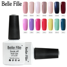 BELLE FILLE 79 Colors Gel Nail Polish 10ml Pink Red Green UV Soak Off Gel Polish Gel For Nails Gel Varnish Vernis Semi Permanent