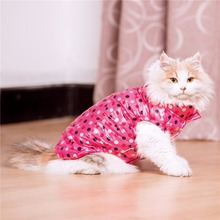 Warm Dot Print Vest for Cats