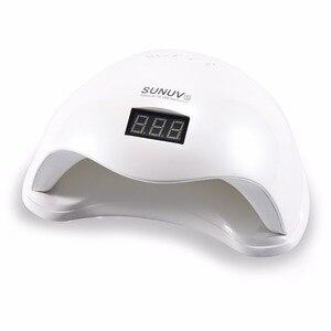 Светодиодная УФ-лампа для ногтей SUN5, 48 Вт, с ЖК-таймером и дном, для макияжа, для сушки лака, инструменты для дизайна ногтей