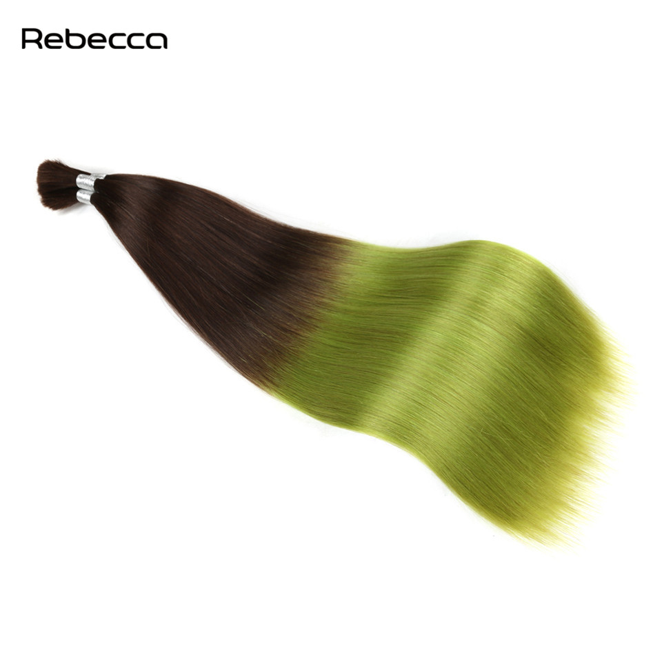 Ombre Brazilian Non Remy Hair Rebecca Hair Products Extension Human Braiding Hair Bulk Extenciones 4 P16