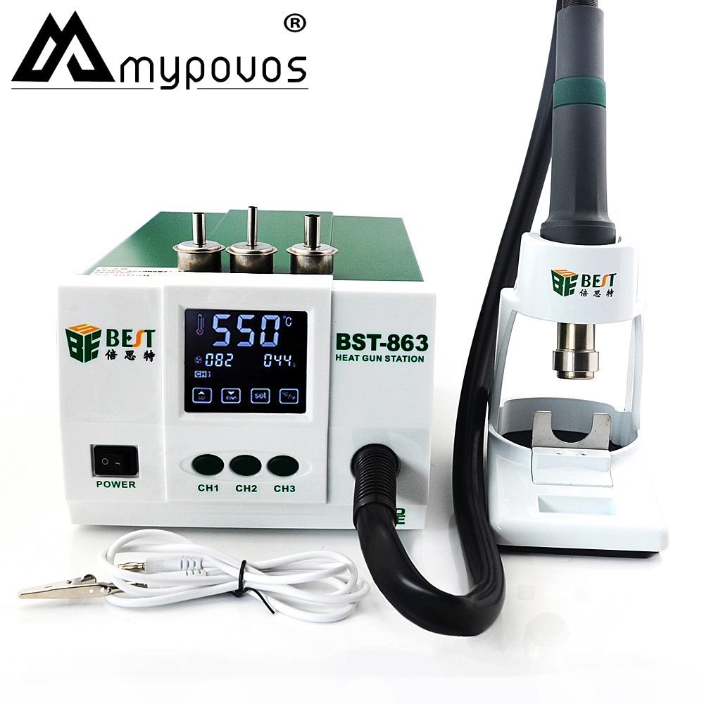 Leadfree Adjustable Hot Air Rework Station Soldering Touch Screen LCD For Phone CPU PCB Desolderig Better