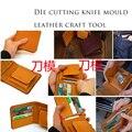 DIY leder handwerk gefaltet kleine geldbörse brieftasche karte halter 10x11x2 cm stanzen messer punch form werkzeug