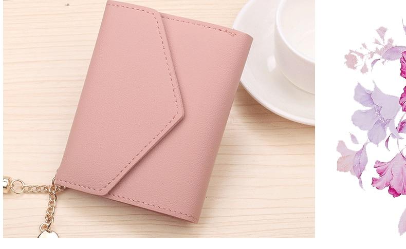 Модный женский кошелек с кисточками для кредитных карт, маленькие Роскошные брендовые кожаные короткие женские кошельки и кошельки Carteira Feminina