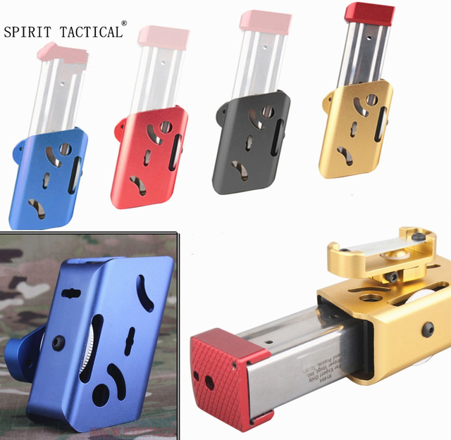 IPSC CNC B modelleri Kılıfı/ALTıN Airsoft Alüminyum 360 Derece Döndür Dergisi Kılıfı Glock