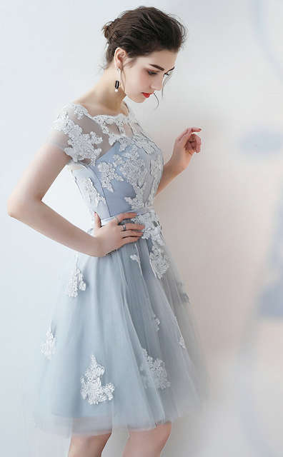 Silver Cocktail Dresses for Women