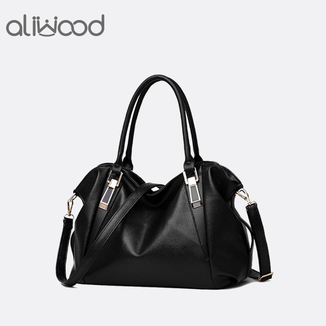 ba4f965a70e09 US $13.76 51% OFF|Hot Sale Women's Handbags Trendy Leisure Tote Bags Ladies  Crossbody Bags Female Pu Leather Messenger Bags Hobos Shoulder Bags-in ...