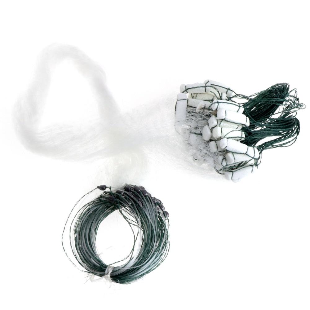 Fishing Net Single Mesh Nylon Durable Accessories Float Trap Monofilament Gill