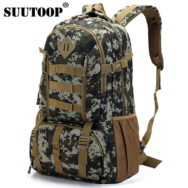 SUUTOOP Army Military Shoulder Backpacks Casual Camouflage Rifle Bag Large  Capacity Laptop Backpack Out Door Travel Back pack a204636feb