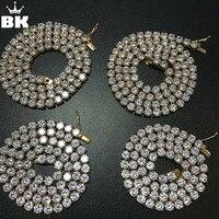 2018 никогда не выцветает теннисное ожерелье из нержавеющей стали 4 мм/5 мм/6 мм Ширина 18/20/22/24 дюйма микро проложенный кубический циркон хип-хоп...