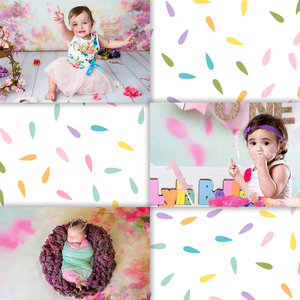 Image 2 - Allenjoy newborn photography backdrop flower spring bokeh watercolor background photo studio baby shower child nature photocall