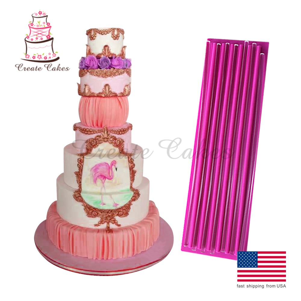 Gathering Mat 330x98mm, Silikone Lace Forme, Fondant Lace Forme til Cake Decorating, Silicone Cake Decorating Forme, BLM-24