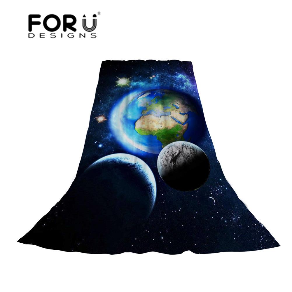 FORUDESIGNS 3D Universe Print Scarf Women Galaxy Slik Scarves Ladies Fashion Long Beach Towel for Females Unique Design Wraps