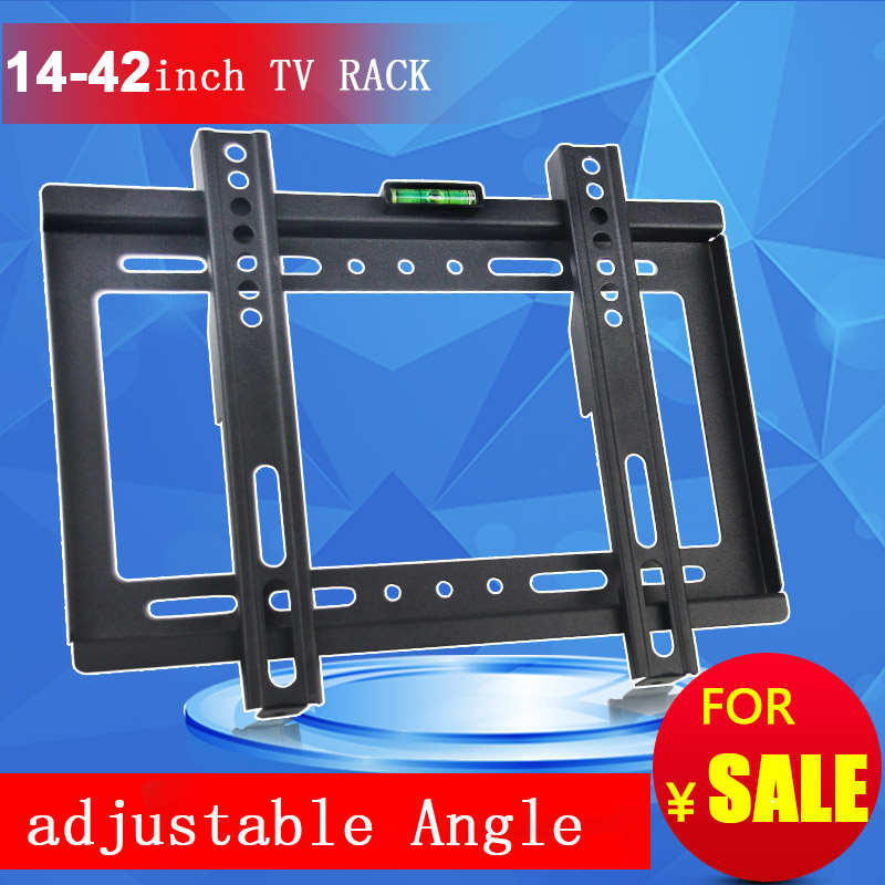 Fixed TV Wall Mount TV Bracket for Most 14-42 Inch LED LCD and Plasma TV up to VESA LED  universal Steel rack shelf multifunction 360 degrees rotatable universal roof ceiling mount black aluminum wall bracket suit for led lcd dlp projector