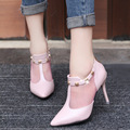 2017 New Fashion Spring Brand Shoes Woman High Heels Pumps Thin Heel Women's Shoes Pointed Toe High Heels Wedding Shoes Women