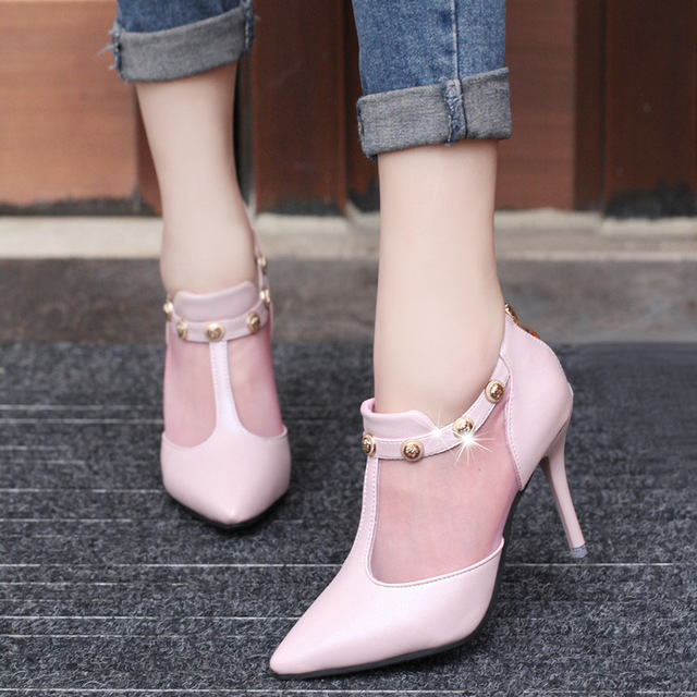 2017 New Fashion Spring Brand Shoes Woman High Heels Pumps Thin Heel  Women s Shoes Pointed Toe High Heels Wedding Shoes Women b4a361dd4