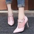 2017 Nova Moda Primavera Marca Sapatos Mulher Bombas Dos Saltos Altos Sapatas das Mulheres Apontou Toe de Salto fino de Salto Alto Sapatos de Casamento mulheres