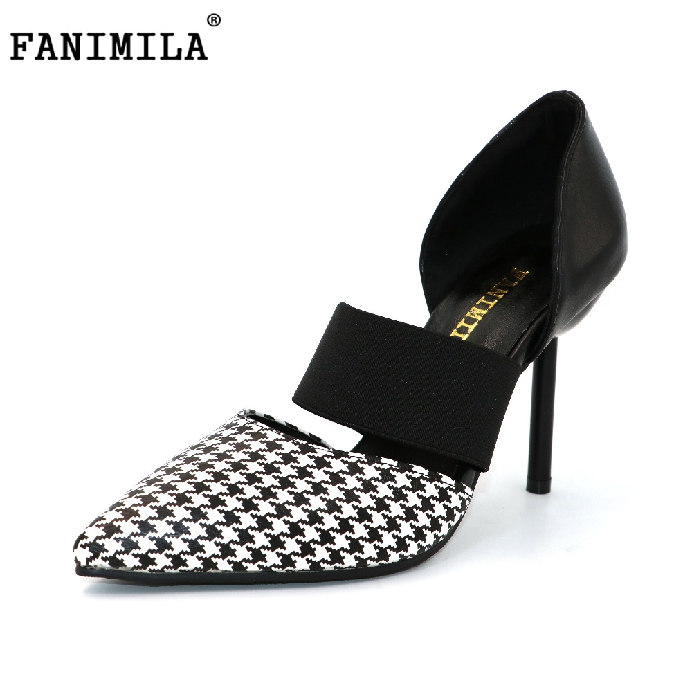 FANIMILA new women colorful high heel sandals women pointed toe shoes womens thin high quality brand shoes size 32-43 PE00090 new 2017 spring summer women shoes pointed toe high quality brand fashion womens flats ladies plus size 41 sweet flock t179