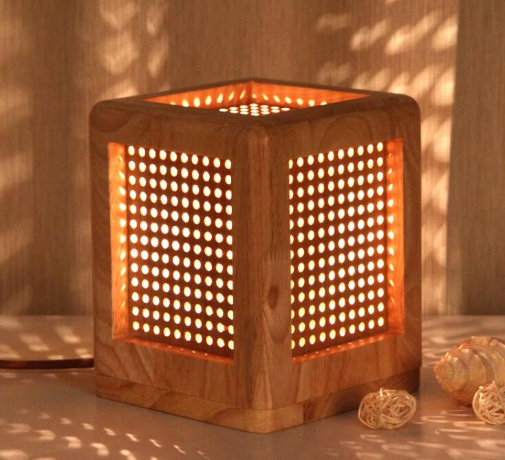 Chinese style Table Lamps square lamp desk lamp warm and stylish living room bedroom bedside lamp children eye LU726247