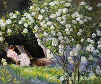 Oil paintings beach Rose Garden Peder Severin Kroyer artwork on canvas Handmade High quality