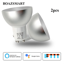 GU10 Smart Led Bulbs LED WiFi Dimmable Spot Light Bulb Daylight Lamp RGBCW Compatible with Alexa/Google home/IFTTT