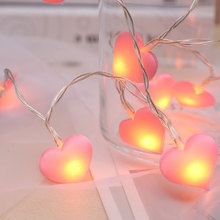 3M 20LED Heart-shaped Lamp String Romantic Love Valentines Day Gift Room Decoration Childrens Decorative Lighting