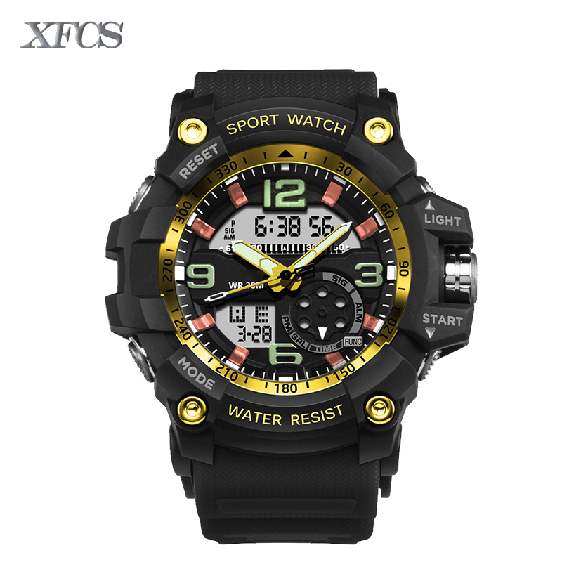 XFCS 2017 waterproof font b watches b font for men original man watchs shockesportivo mens top