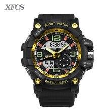 XFCS 2017 relojes impermeables para hombres hombre original shockesportivo relojes para hombre de primeras marcas digitales reloj militar reloj de luz