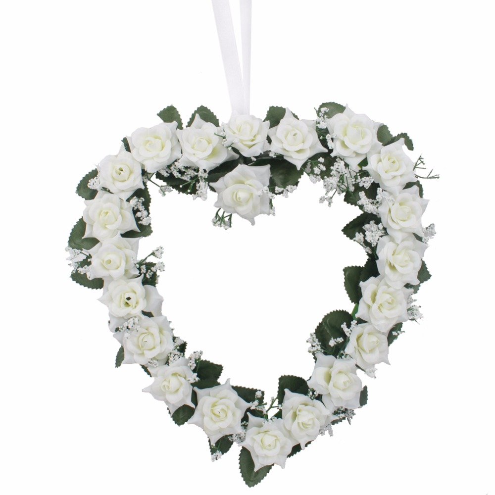 Aytai 1pc heart rose wreath wall hanging decorative flowers wreaths aytai 1pc heart rose wreath wall hanging decorative flowers wreaths wedding decoration bluebeigepinkpurple in artificial dried flowers from home izmirmasajfo