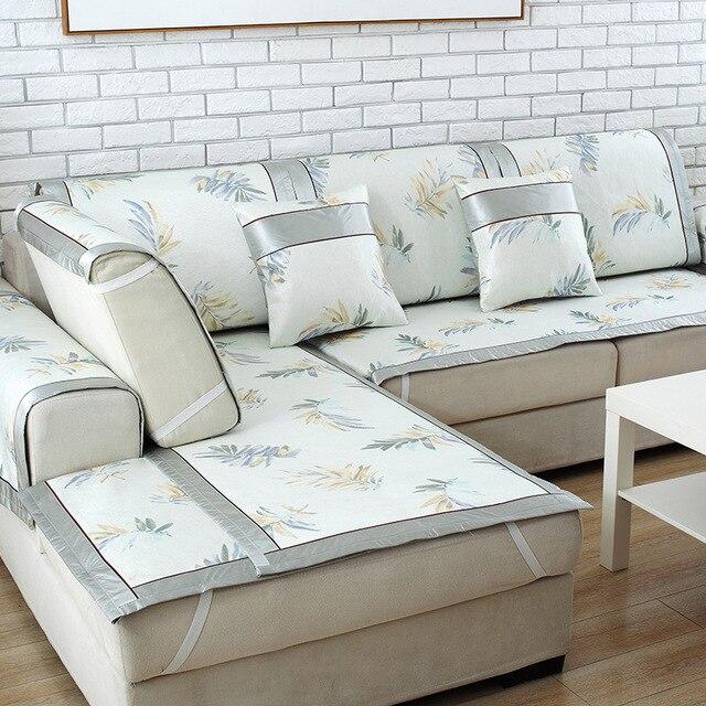 Charmant TUEDIO Floral Summer Ice Silk Sofa Cover Modern Non Slip Cushion Stretch  Furniture Covers Armchair Sofa