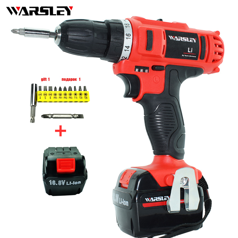 16.8v electric Drill power tools  Electric battery Screwdriver Electric Cordless Drill screwdriver rechargeable Drill drilled