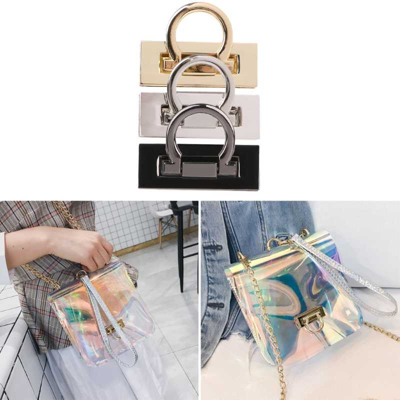 30e53b2dcca Metal Clasp Turn Twist Lock for DIY Craft Shoulder Bag Purse Handbag  Hardware Bag Accessories Buckle