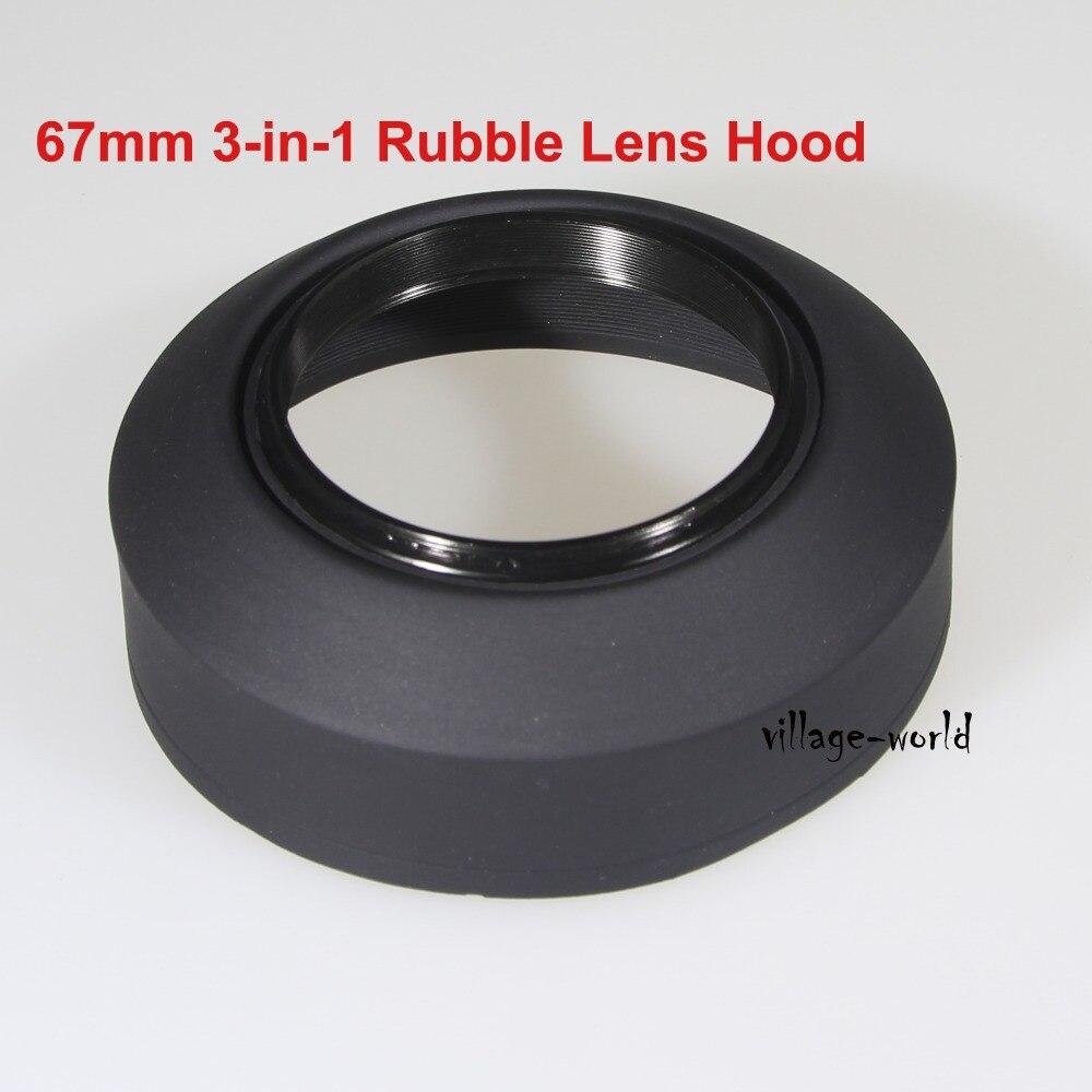 10 шт. 67 мм 3 в 1 этап 3-ступенчатый Резина Складной линзы капот для Canon Nikon Sony Pentax Olympus Contax Samsung DSLR SLR камера