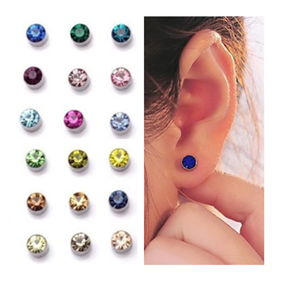 9 Colors Magnetic Clips Earrings For Men And Women 4mm 5mm Crystal Ear Cuff No Pierced Fake Piercing Ohrringe In Clip From Jewelry