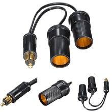 12V Cigarette Lighter For Hella Plug to Twin Cig Cigar Socket Car Cigarette Lighter Adapter Converter