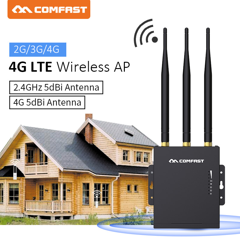 Comfast CF-E7 High Speed 4G LTE outdoor wireless AP wifi router plug and play 4G SIM card with 3*5dBi antennas access point ap