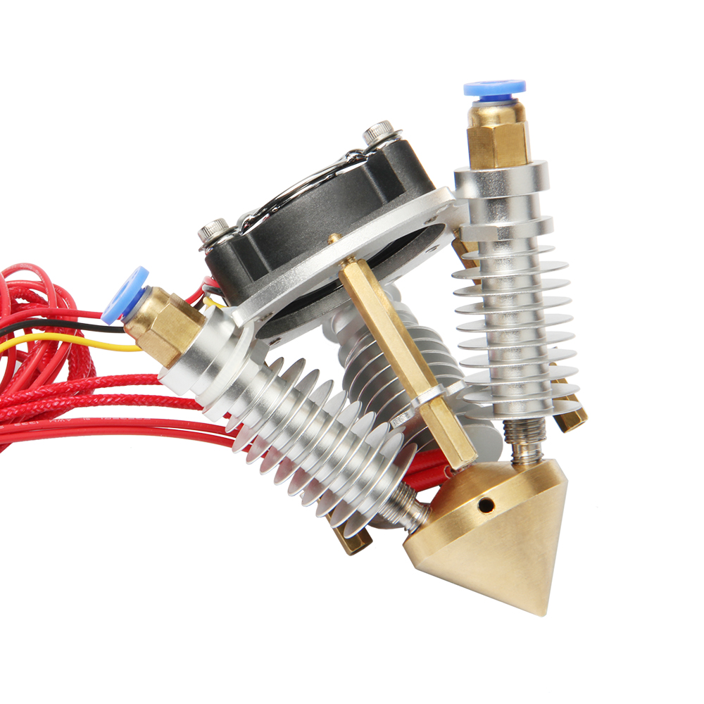 ФОТО Reprap 3D Printer Diamond Hotend Multi Color Hot End 3 IN 1 OUT Extruder, Prusa Rostock Extruder kit, 0.4mm/ 1.75mm