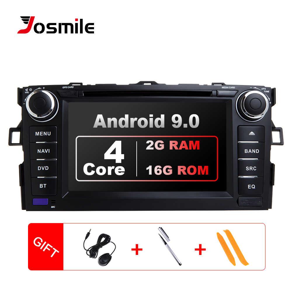 2 Din Android 9,0 reproductor de DVD del coche para Toyota Auris Toyota Corolla Altis 2012 de 2013 de navegación Multimedia grabadora de Radio GPS