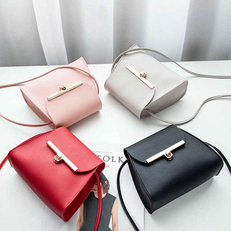 Новая женская сумка модная женская кожаная сумка через плечо Наплечная Сумка женская однотонная дорожная уличная сумка через плечо