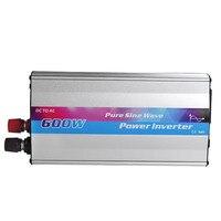 600 Вт Чистая синусоида Инвертор DC 12 В к AC 220 солнечный инвертор с USB 2.1A интерфейс Мощность конвертер