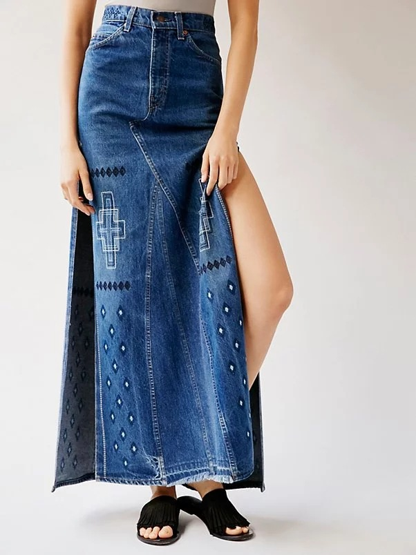 Online Get Cheap Long Denim Skirts Sale -Aliexpress.com | Alibaba ...